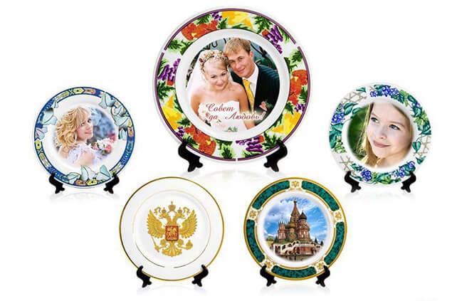 Печать фото, рисунков и изображений на тарелках в Москве